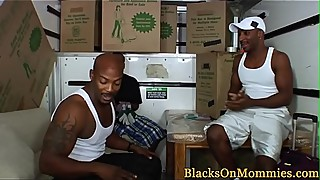 Bigtit milf interracial pounded in truck