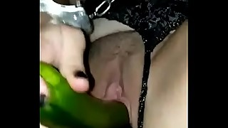 Slut Angelina gets triple stuffed!
