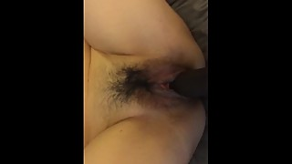 My Asian wife fucked by a big black cock
