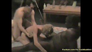 Homemade Wife With 2 BBC While Husband Films