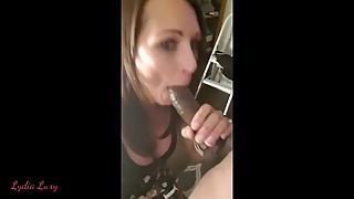 Skinny Amateur Hotwife BBC BJ Selfie Cuckold not Invited
