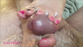 Luv4feet - Wifes Pink and Black Footjob