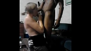 Hotwife sucks my BBC while husband records