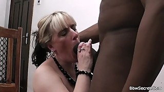 Wife leaves and he fucks blonde BBW from behind