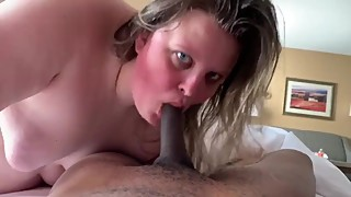 Morning after BBC Bareback Breeding my  BBW Wife