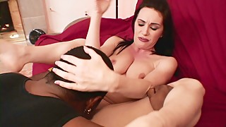 Neglected housewife Rayveness finds a big black dick to fuck her