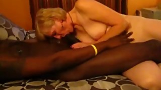 Mature wife blows BBC