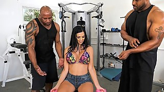Busty Housewife Jasmine Jae Gets DP'd By Black Trainers
