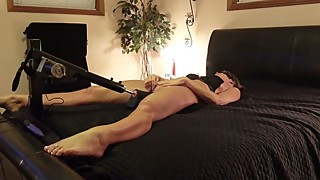 HOT BRUNETTE WIFE TAKES THICK BLACK DILDO TO ORGASM