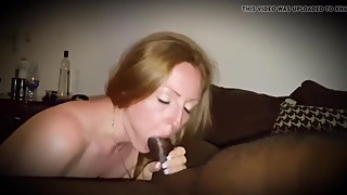 Redhead wife fucks BBC while husband records