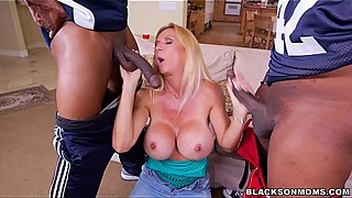 White Wife needs 2 Black Cocks for satisfaction