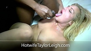 Hotwife Taylor Leigh eats a double load of hot cum