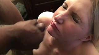 Amber Heart aka hottwife09 gets BBC cumshot