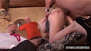 Slutty Housewife Liz Black Enjoys a Big Cock in the Presence of Her Cuckold