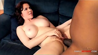 Step Mom Curious How Big Her Sons Cock Is