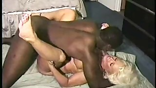 beautiful Young BBC lover dominates blond houewife