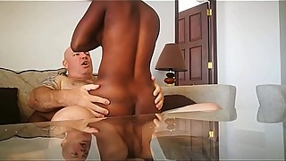 hot  little wife with big tits fucked while husband watches