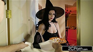 Unfaithful Wife Ariana Marie Fucks Behind Husband'_s Back on Halloween