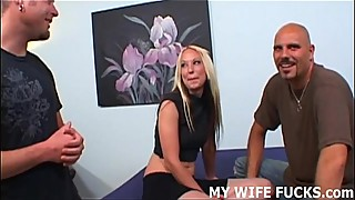 Watch your hot wife getting fucked hard