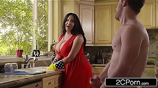 Chubby Busty Stepmom'_s Cum Cleaning - Sybil Stallone