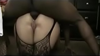 Hot amateur wife interracial anal creampie