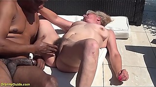 extreme hairy granny first interracial sex